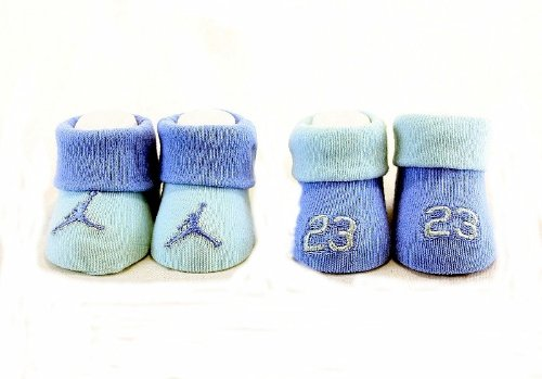 9808e95fb2a5 Nike Jumpman 23 Air Jordan Booties Socks Blues City Relics. Nib nike air  jordan baby boy 4pcs crib shoes bootie socks clothes 0 6 mo ...