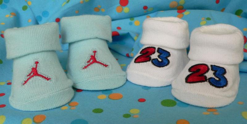 4b7002dfada Nike Jumpman 23 Air Jordan Booties/ Socks Primary Colors. $7.95. Size 0-6  months